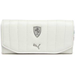 Puma Women White LS Clutch Wallet