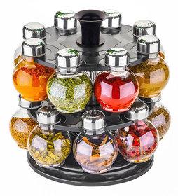 Darkpyro Multicolor Plastic Spice Rack Set (16 Pieces)