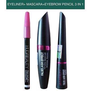 Huda Beauty Liquid Eyeliner + Mascara + Eyebrow Pencil
