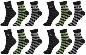 CalvinJones Unisex Cotton Ankle Socks - Pack of 12