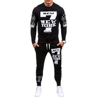 Trendyz Men Black Trackpant With Full Sleeve T-Shirt