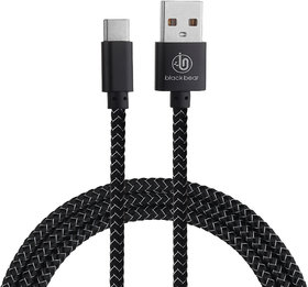 Blackbear Jazzy Type -Cable - black 1 m USB Type C Cable  (Compatible with Mobiles, Tablets and All USB Charging Device
