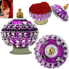 3 Pieces Sindoor Dani Box Beautifully Decorated - 07
