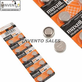 Invento 10pcs 1.5V LR44 Li-ion Alkaline Battery (Non-Rechargeable) LR44 Button Coin Cell Battery for Calculator Watch El