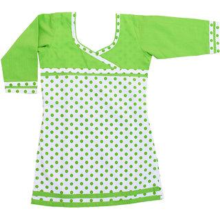 Dakshan Collections Self Cotton Kurti For Girls