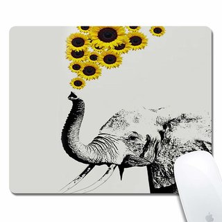 Elephant Sunflowers Gaming Office Mouse Pad ZTtrade Durable Customized Non-Slip Rubber Mouse Pad-Rectangle.