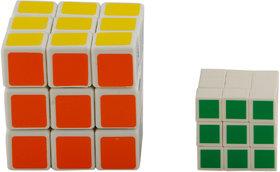 R L SONS 3x3x3 Cube Multi-Colored Puzzle Rubix / Rubik's Cube, Set of 2