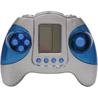 R L SONS Hand Battery Operated Video Game for Kids / Boys/ Girls , Color - Silver  Blue (Batteries Not Included)
