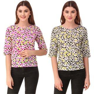 Urban Styloo New Fashion Stylish (Pure Cotton Women's Printed Stylish Top)