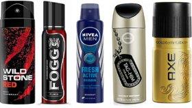Wildstone,Fogg,NlVEA,Yardley and Axe Deodorant Spray ml Any 3 from 5