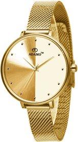 ADAMO Aritocrat Gold Dial Women's & Girl's Watch 335YYM04