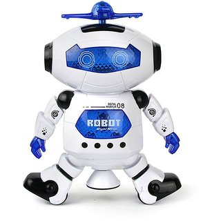 Naughty Dancing Robot for Kids Dancing Robot with 3D Lights and MusicBattery Operated Dancing Robot Rotation at 360