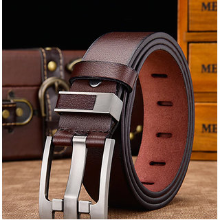 Davidson Men's Leather Belt (Synthetic leather/Rexine)