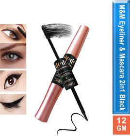 MM Makeup and More 2in1 Eyeliner and Mascara Long Lasting Waterproof