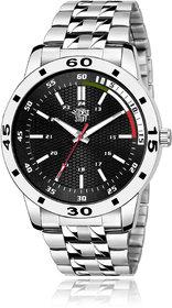 Swadesi Stuff Men's Black Round DialStainless Steel Watch
