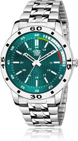 Swadesi Stuff Men's Green Round DialStainless Steel Watch