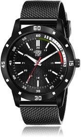 Swadesi Stuff Men's Black Round DialSilicone Watch