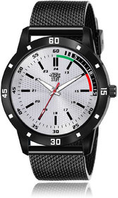 Swadesi Stuff Men's Grey Round DialSilicone Watch