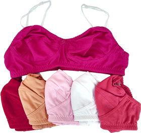 Baremoda Womens Transparent Straps Bra Combo Pack of 6