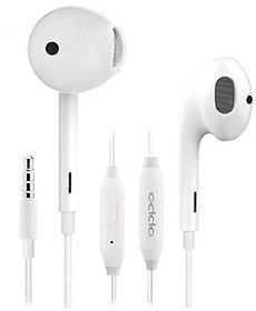 HatHot Earphone For All Oppo Mobiles (White)