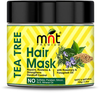 MNT Tea Tree Hair Mask with Rosemary  Fenugreek Oil for Hair Repair, Restore  Strengthens Dandruff Control, 100g