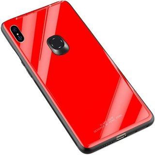 OGW BACK CASE COVER FOR HONOR 8X RED GLASS TOUGHENED COVER
