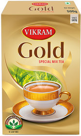 Vikram Gold Special Mix tea made with 5 unique upper assam leaves 500 Gram Pack