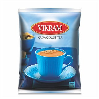 Vikram kadak Dust Tea Strong Bold and Rich flavour perfect morning tea 1 KG Pack