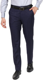 Cliths Navy Blue Formal Pants For Men Slim Fit/Flat Front Fromal Trousers For Men Cotton