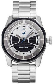 Fastrack Silver Dial Round Metal Strap Casual Analog Watch For Men (3099Sm02)