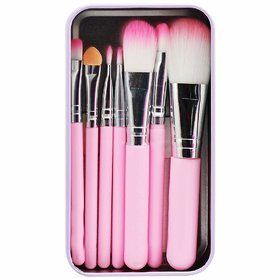 BLUSH BRUSH Hello Kitty Complete Makeup Mini Brush Kit with A Storage Box - Set of 7 Pieces