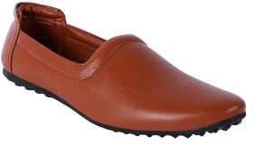 Aadi Men's Brown Synthetic Leather Casual Mojari Shoes