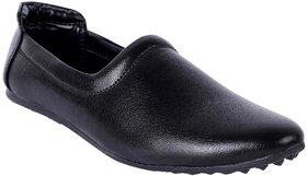Aadi Men's Black Synthetic Leather Casual Mojari Shoes