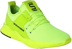 Aadi Men's Green Mesh Running Sport Shoes