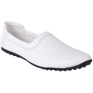 Buy Aadi Men's White Synthetic Leather