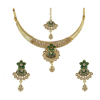 Gold Plated Fancy Necklace Set for Women & Girls