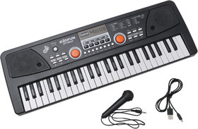 R L SONS Key Piano Keyboard Toy for Kids with Mobile Charger Power Option, USB Cable and Recording