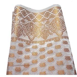 lensta Women's Banarasi Silk Saree (White)r 200