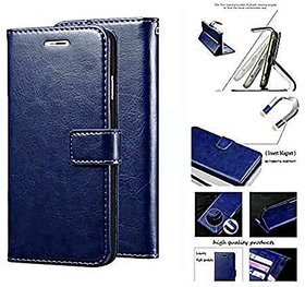 D G kases Flip Flap Cover Case with Stand / Wallet / Card Holder For Oppo A31 - Blue