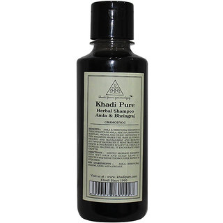 Khadi Pure Herbal Amla  Bhringraj Shampoo - 210ml