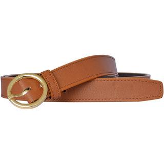 Sunshopping women'S Tan Color Formal Leatherite belt