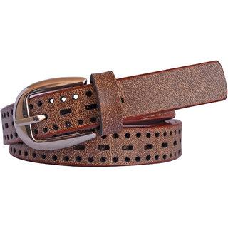 Sunshopping women'S Brown Formal Leatherite belt