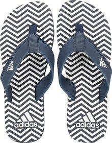 Adidas Men's Inert Navy-White Slippers / Flipflops