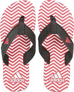 Adidas Men's Inert Red-White Slippers / Flipflops