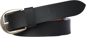 Sunshopping Women's Black Color Formal Leatherite belt