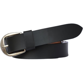 Sunshopping Women's Black Color Formal Leatherite belt