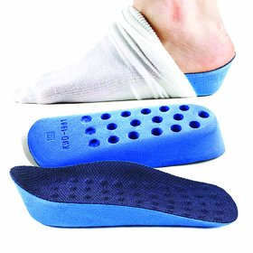 CuraFoot 2 Pieces Unisex Heightening Insoles Breathable Shoe Inserts Adds 2.5cm to your Height