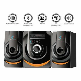I Kall IK201 BT 40 W Bluetooth Speaker System (Black, 2.1 Channels)