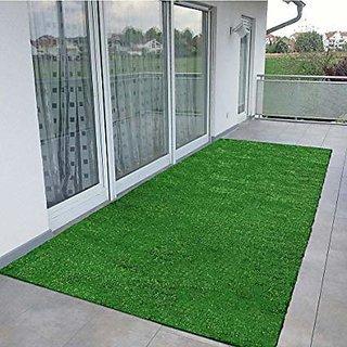 AAVAHAN Artificial Grass High Density Artificial Grass Carpet Mat for Balcony, Lawn, Doormat (25MM) Green (2x5, Green)