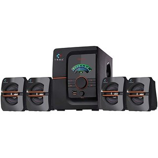 I Kall IK-401 4.1 Channels Speaker System With Bluetooth, AUX, USB and FM Connectivity